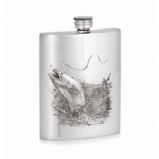 Fishing Embossed Hip Flask