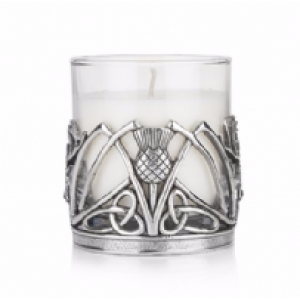 Stag and Thistle Candle Holder with Christmas Spice Candle