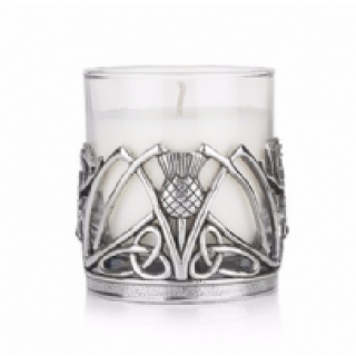 Stag and Thistle Candle Holder with Lime and Basil Candle