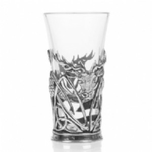 Stag and Thistle Shot Glass
