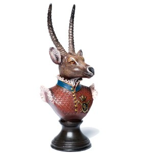 Antelope Bust in Military Uniform
