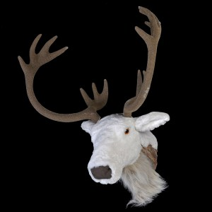 Large White Deer Head