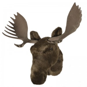 Furry Moose Head