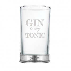 """Gin is My Tonic"" Hi Ball Glass"