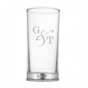 """G & T"" Hi Ball Glass"