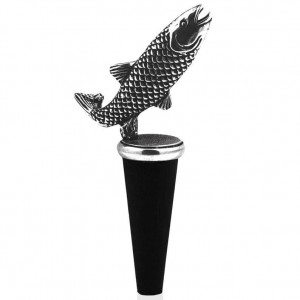 Fish Pewter Bottle Stopper