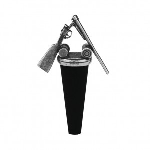 Shotgun Pewter Bottle Stopper