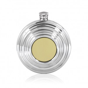 Clay Pigeon Shotgun Hip Flask