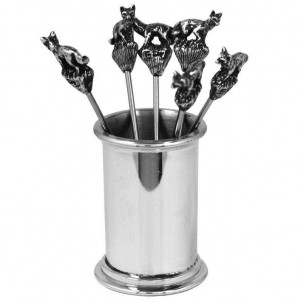 Fox Pewter Cocktail Picks