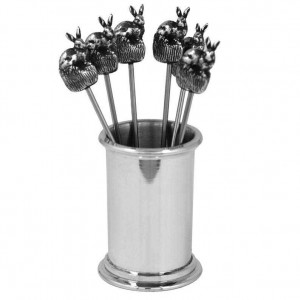 Hare Pewter Cocktail Picks