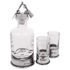 Shotgun Mini Decanter and Shot Glass Set