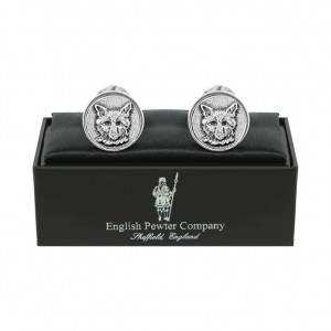 Fox Pewter Cufflinks