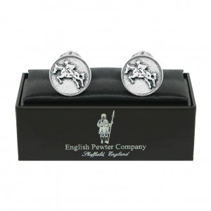 Horse and Rider Pewter Cufflinks