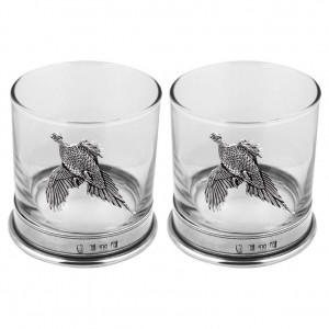 Pheasant Double Whisky Glass Set