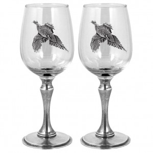 Pheasant Double Wine Glass Set 350ml