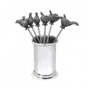 Pheasant Pewter Cocktail Picks