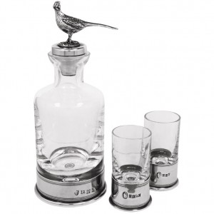Pheasant Mini Decanter and Shot Glass Set
