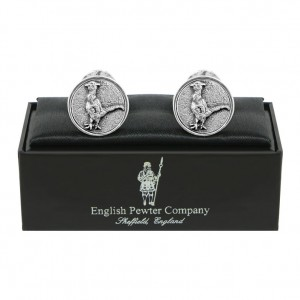Pheasant Pewter Cufflinks
