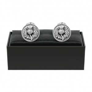 Thistle Pewter Cufflinks