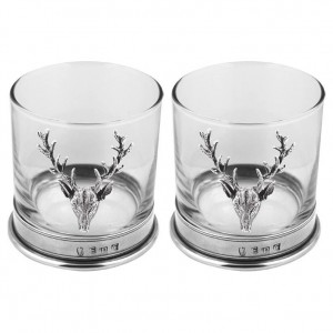 Stag Double Whisky Glass Set