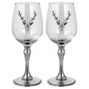 Stag Double Wine Glass Set 350ml