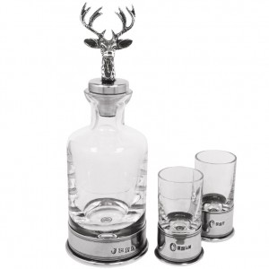 Stag Mini Decanter and Shot Glass Set