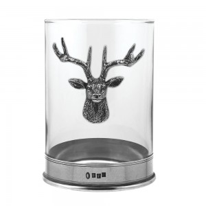 Stag Pillar Candle Holder