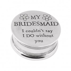 Bridesmaid Pewter Trinket Box