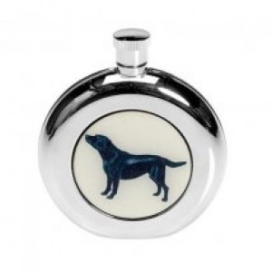 Black Labrador Hip Flask