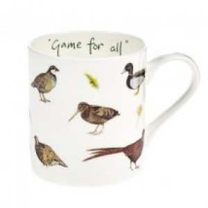 "Game Birds Fine Bone China Mug ""Game For All"""