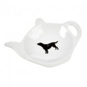 Black Labrador Tea Bag Holder