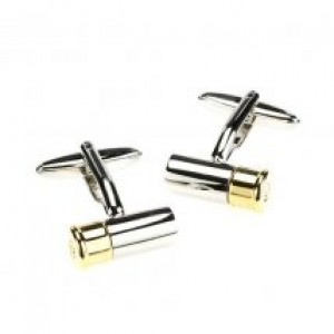 Cartridge Cufflinks Silver and Gold
