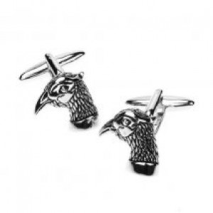 Pheasant Cufflinks Silver Finish
