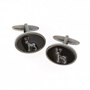 Stag Black Enamel Cufflinks
