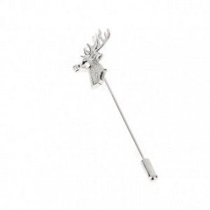 Stag Stock Pin Silver Finish