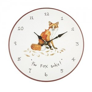 "Wall Clock ""For Fox Sake"""