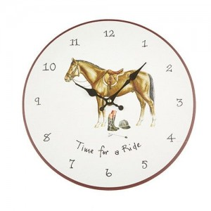 "Wall Clock ""Time for a Ride!"