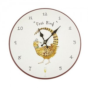 "Wall Clock ""Posh Bird"""