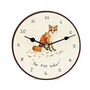 "Desktop Clock ""For Fox Sake"""
