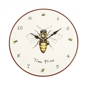 "Wall Clock ""Time Flies"""