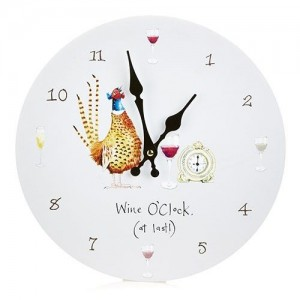 "Wall Clock ""Wine O'Clock"""