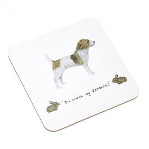 "Coaster Jack Russell Dog ""Did Someone Say Rabbits"""