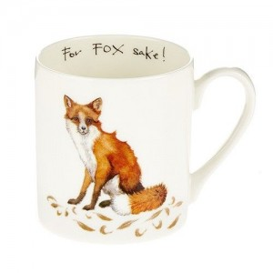 "For ""Fox Sake""  Fine Bone China Mug"