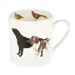Black Labrador and Springer Spaniel Fine Bone China Mug