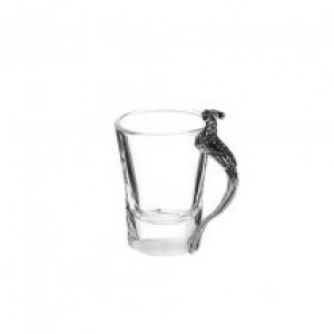 Pheasant Glass with Pewter Handle