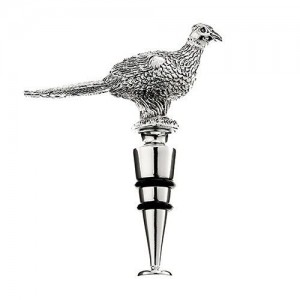 Pheasant Metal Bottle Stopper