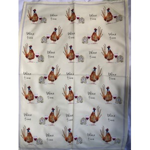 "Tea Towel ""Wine Time"""