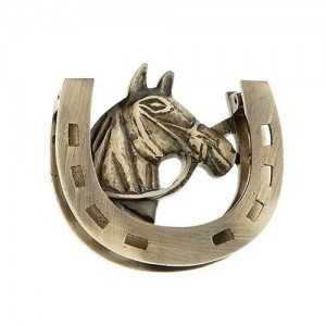 Horse and Horseshoe Door Knocker