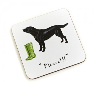 "Coaster Black Labrador ""Please"""