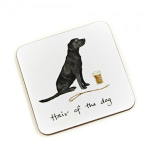 "Coaster Black Labrador ""Hair of the Dog"""